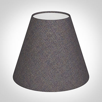 Candle Shade in Heather Herringbone Lovat Tweed