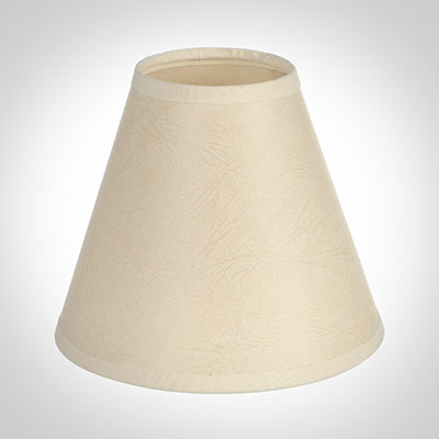Candle Shade in Parchment with Cream Trim