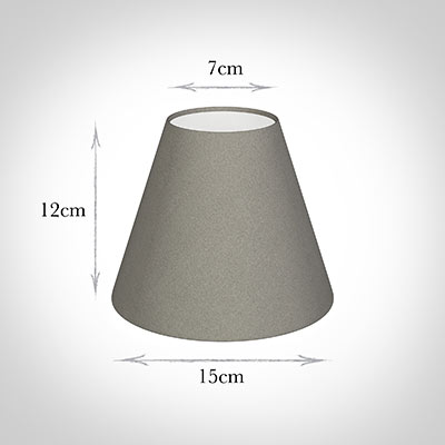 Candle Shade in Pewter Satin