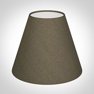 Candle Shade in Bronze Brown Silk
