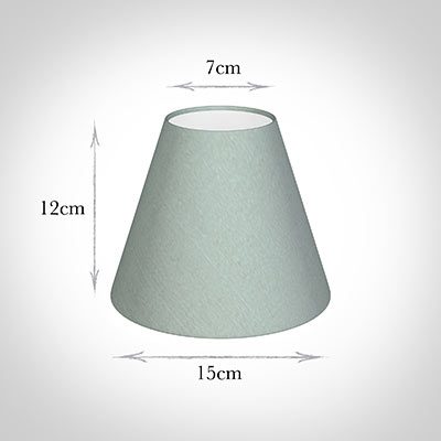 Candle Shade in French Grey Silk