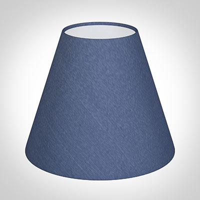 Candle Shade in Slate Blue Silk