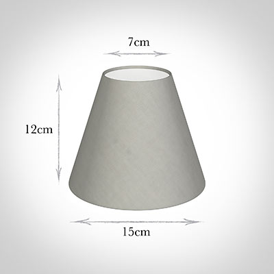 Candle Shade in Soft Grey Waterford Linen