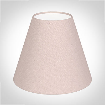 Candle Shade in Vintage Pink Waterford Linen