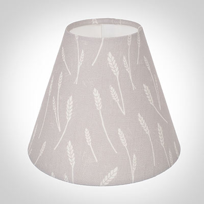 Candle Shade in Soft Grey Wheatfield