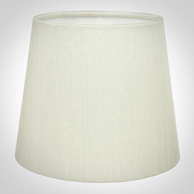 French Drum Candle Shade in Pearl Faux Silk