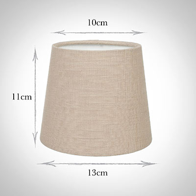 French Drum Candle Shade in Putty Killowen Linen