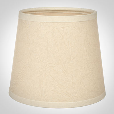 French Drum Candle Shade in Parchment, Cream Trim