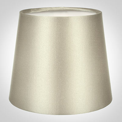 French Drum Candle Shade in Pale Smoke Satin