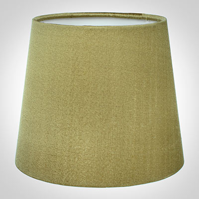 French Drum Candle Shade in Antique Gold Silk