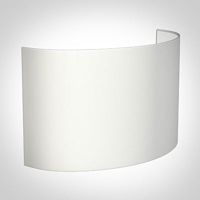 32cm Carlyle Half Shade in White Killowen Linen(with Shade RIng)