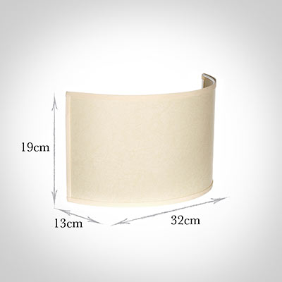 32cm Carlyle Half Shade in Parchment with Cream Trim