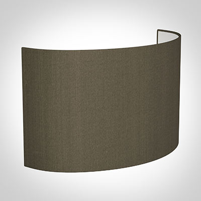 32cm Carlyle Half Shade in Bronze Brown Silk