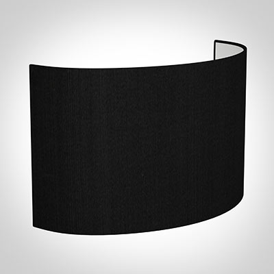 32cm Carlyle Half Shade in Black Silk