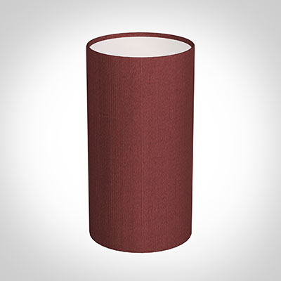 13cm Narrow Cylinder Shade in Antique Red Silk