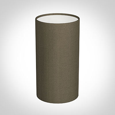 13cm Narrow Cylinder Shade in Bronze Brown Silk