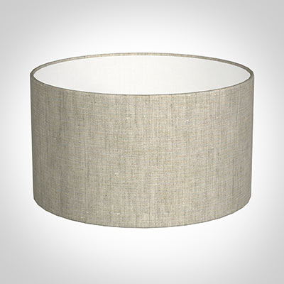 30cm Wide Cylinder Shade in Natural Isabelle Linen