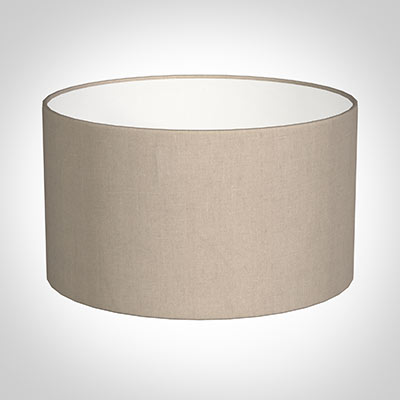 30cm Wide Cylinder Shade in Putty Killowen Linen