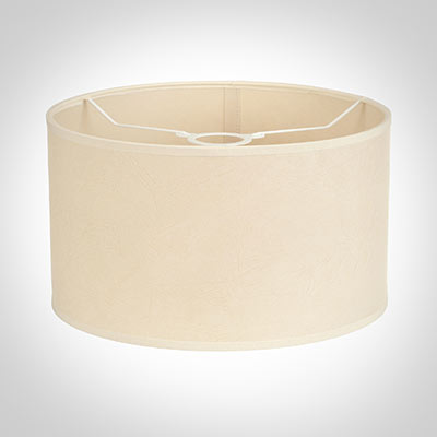30cm Wide Cylinder Shade in Parchment with CreamTrim