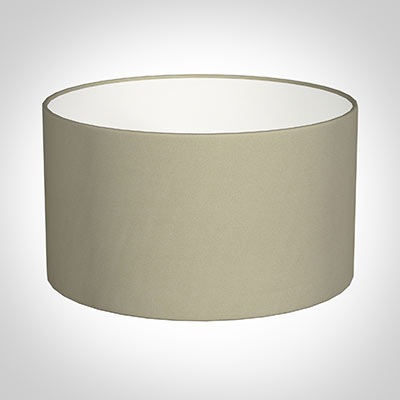 30cm Wide Cylinder Shade in Pale Smoke Satin