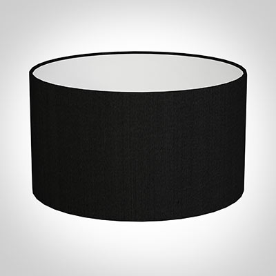 30cm Wide Cylinder Shade in Black Silk
