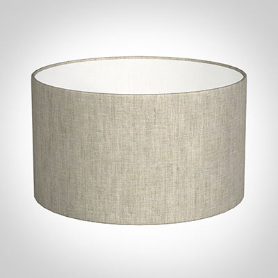 35cm Wide Cylinder Shade in Natural Isabelle Linen