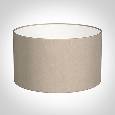 35cm Wide Cylinder Shade in Putty Killowen Linen