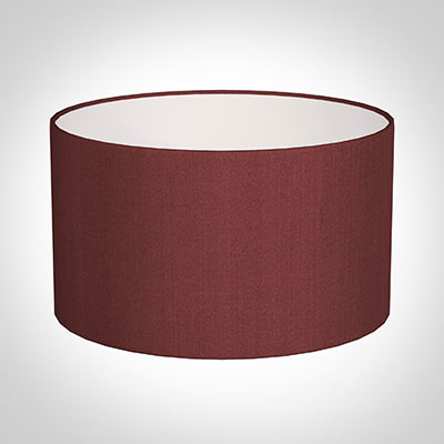 35cm Wide Cylinder Shade in Antique Red Silk