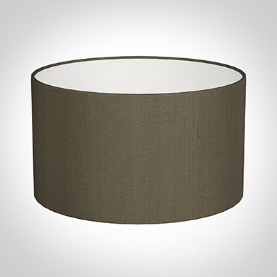 35cm Wide Cylinder Shade in Bronze Brown Silk