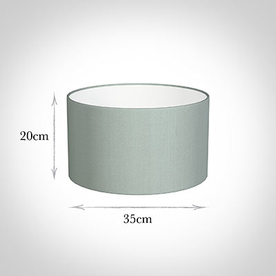 35cm Wide Cylinder Shade in French Grey Silk