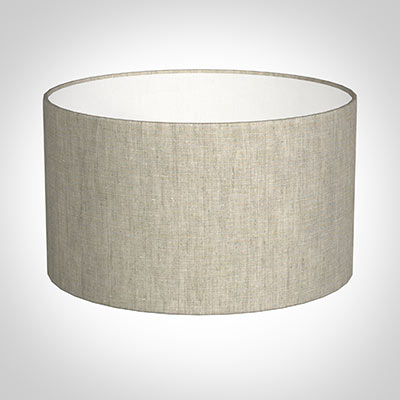 40cm Wide Cylinder Shade in Natural Isabelle Linen