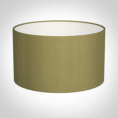 40cm Wide Cylinder Shade in Antique Gold Silk