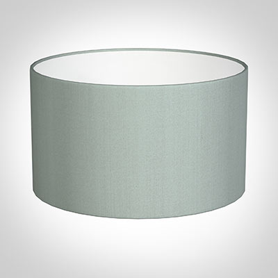 40cm Wide Cylinder Shade in French Grey Silk