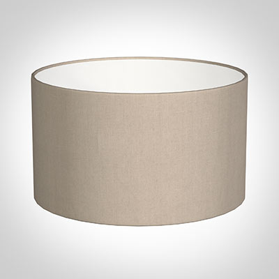 45cm Wide Cylinder Shade in Putty Killowen Linen