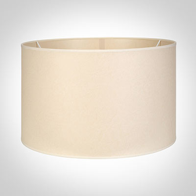 50cm Wide Cylinder Shade in Parchment with CreamTrim