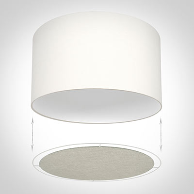 Diffuser for 25cm Cylinder Shade in Natural Isabelle Linen