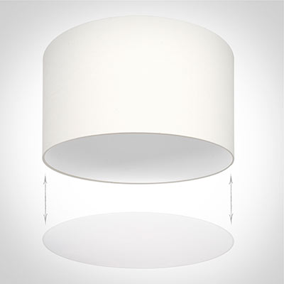 Diffuser for 40cm Cylinder Shade in White Velum