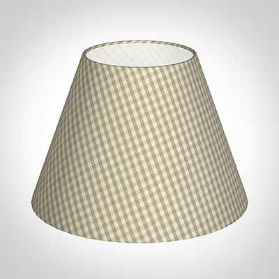 25cm Empire Shade in Natural Longford Gingham