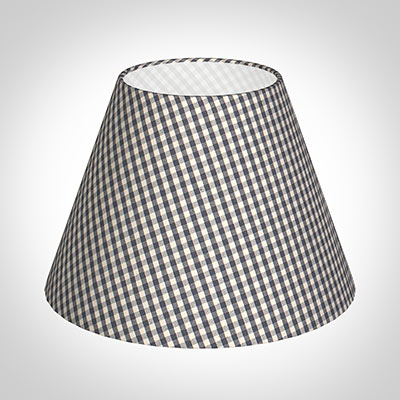 25cm Empire Shade in Stone Grey Longford Gingham
