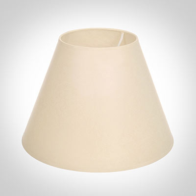 25cm Empire Shade in Parchment with Cream Trim