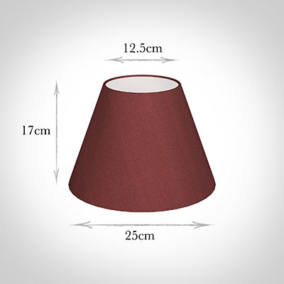 25cm Empire Shade in Antique Red Silk