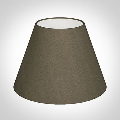 25cm Empire Shade in Bronze Brown Silk