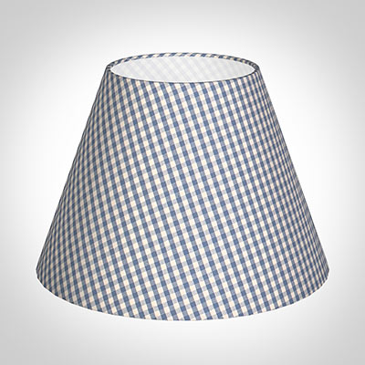 30cm Empire Shade in Azure Blue Gingham