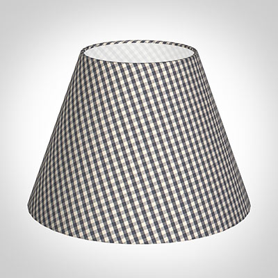 30cm Empire Shade in Stone Grey Longford Gingham