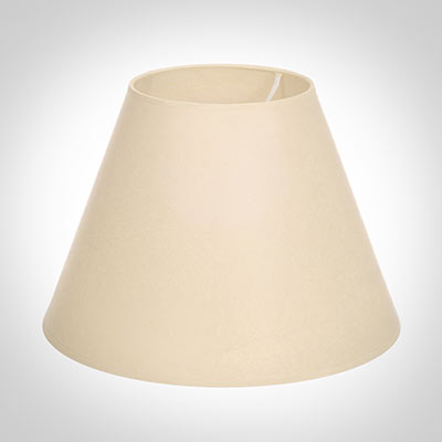 30cm Pendant Empire Shade in Parchment, Cream Trim