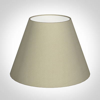 30cm Empire Shade in Pale Smoke Satin