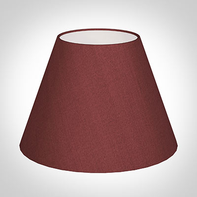 30cm Empire Shade in Antique Red Silk