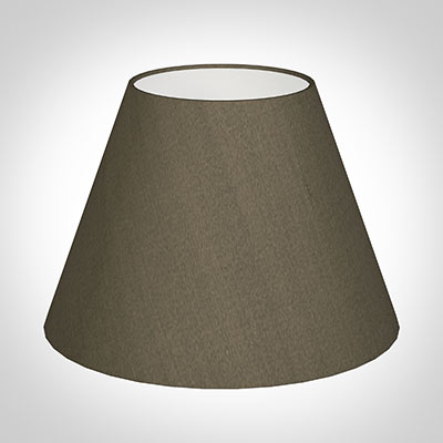 30cm Empire Shade in Bronze Brown Silk