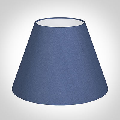 30cm Empire Shade in Slate Blue Silk