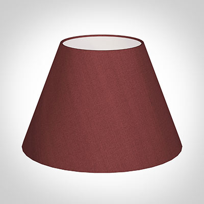 40cm Empire Shade in Antique Red Silk